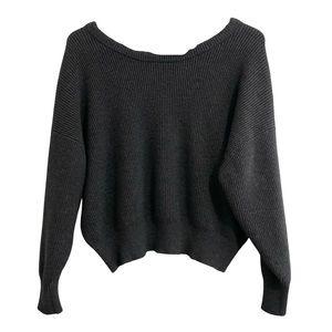 ❤️3/$30 Zara knit, cropped, tie back sweater. S